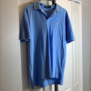Ralph Lauren Mens Classic Polo Shirt Blue & Yellow